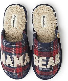 Dearfoams womens Family Collection Mama Bear Plaid Clog