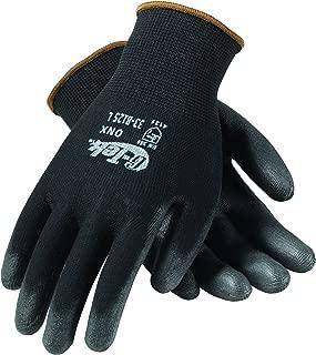 G-Tek 33-B125/XL ONX Seamless Knit Nylon Gloves with Polyurethane Coated Palm and Fingers, Black, X-Large, 1-Dozen