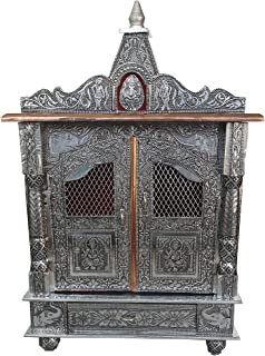 pranjalshouse Oxidised Pooja mandir Temple for Home and Office size-9x18x22 inch