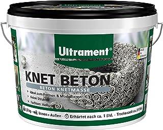 Ultrament Knet-Beton, hochwertiger Knetbeton für kreative Deko Ideen, 2,5 kg