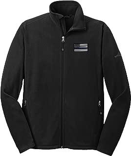 Eddie Bauer American Flag Blue Line Microfleece Jacket Full Zip EB224