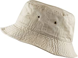 THE HAT DEPOT Youth Kids Washed Cotton Packable Bucket...