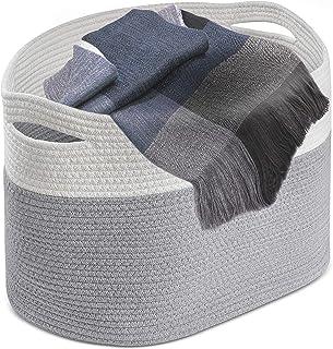 e44a88ed522 Lucky Baby Oversized XXX Large Soft Woven Basket 24x14x18 Farmhouse Laundry  Basket Big Blanket Basket XL