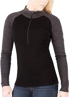 Womens Base Layer 100% Merino Wool Midweight 250g Half Zip Sweater for Women