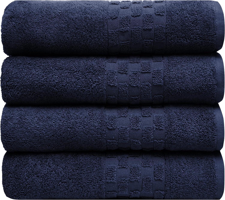 "Pleasant Home Free shipping on posting reviews Check Border Bath Towels Albuquerque Mall - 4 28ââ€"" Set Pack"