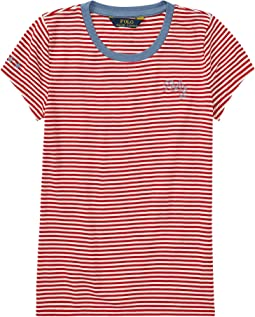 Polo Ralph Lauren Kids - Polo Striped Jersey Tee (Little Kids/Big Kids)