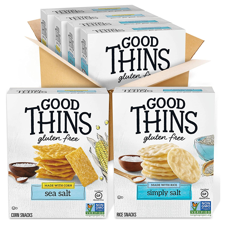 Good Thins Gluten Free Rice Corn 4 Crackers SALENEW very popular Variety Milwaukee Mall Boxe Pack