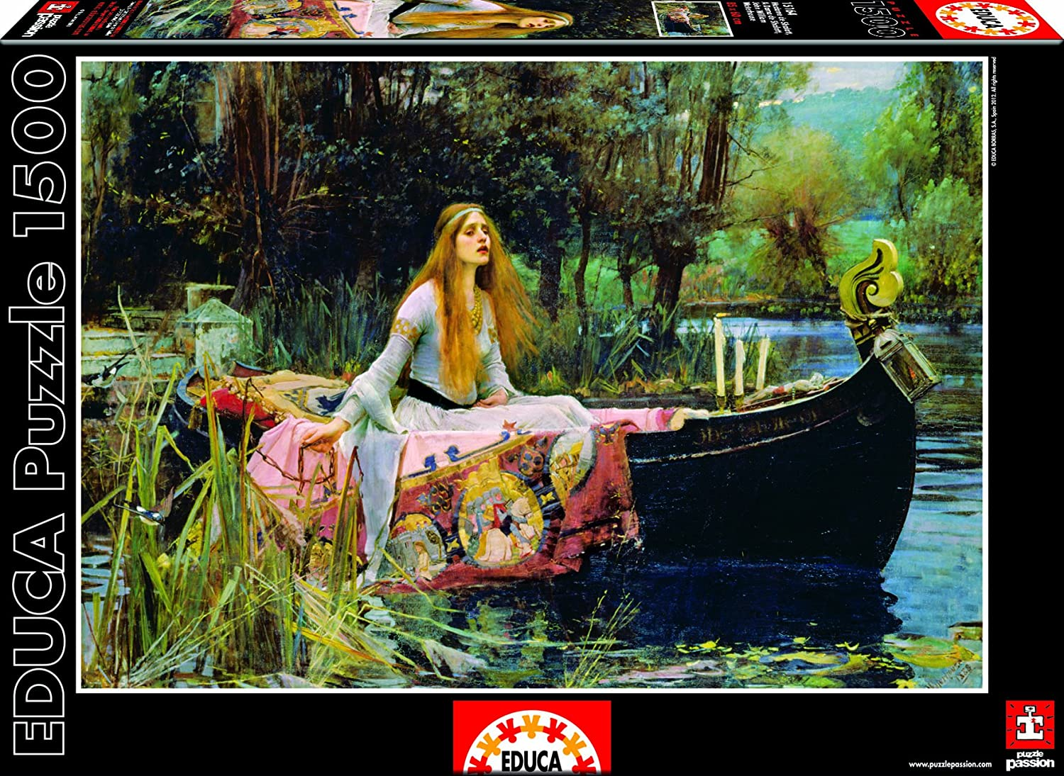 Educa 15164 - Lady of Schalott, John William Waterhouse-Puzzle, 1500 Teile