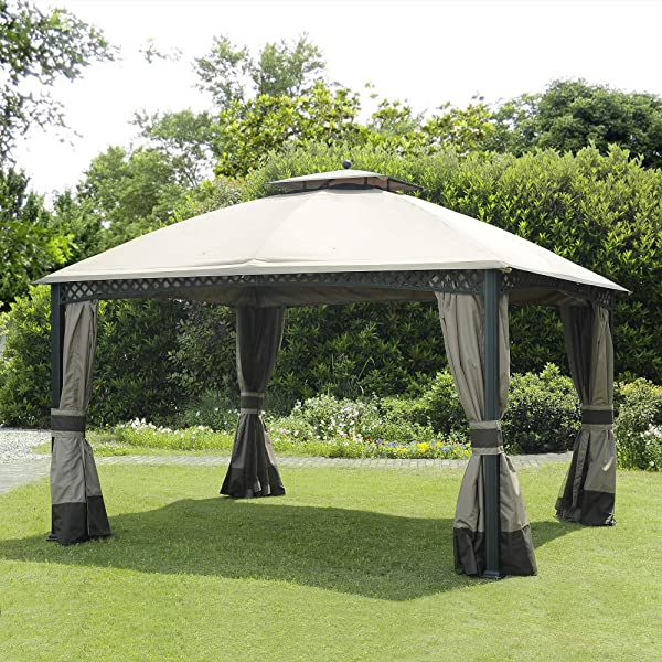Sunjoy Replacement Canopy Set For 10x12 Ft Windsor Gazebo Canopy Only