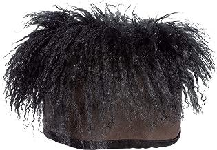Mongolian Wig Shearling Sheepskin Cossack Hat Dark Brown