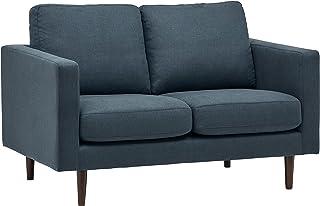 Marca Amazon -Rivet Revolve - Sofá biplaza 143 cm de ancho (azul vaquero)