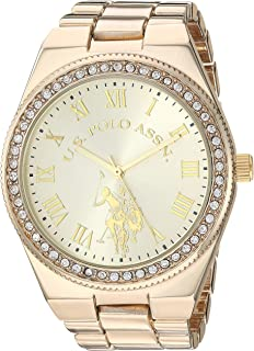 U.S. Polo Assn. Women's Quartz Watch with Alloy Strap,...