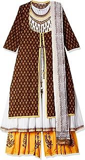 Rain & Rainbow Women's Anarkali Salwar Suit (Pack of 3)