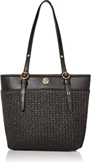 Anne Klein Raffia Pocket Tote