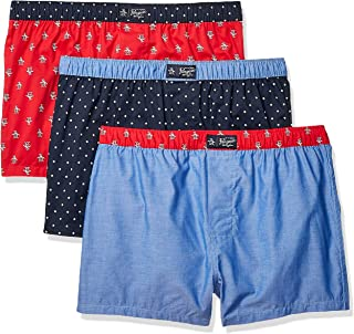 Original Penguin Men's Underwear 100% Cotton Woven Boxers, Multipack