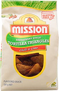 Mission Tortilla Chips, Chili and Lime, 230g