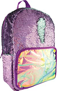 Style.Lab by Fashion Angels Magic Sequin Backpack - Purple Holo/ Seafoam