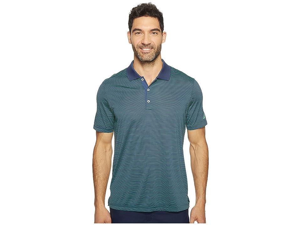 Image of adidas Golf 2-Color Merch Stripe Polo (Dark Slate/Solar Lime) Men's Short Sleeve Pullover