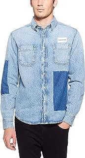 Calvin Klein Jeans Men's Patched Denim Utility Shirt