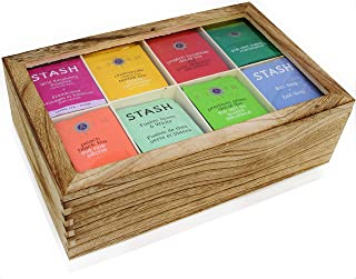 Stash Tea Bags Sampler Assortment Box - 120 COUNT - Perfect Variety Pack in Wooden Gift Box - Gift for Family, Friends, Coworkers - English Breakfast, Green, Moroccan Mint, Peach, Chamomile and more