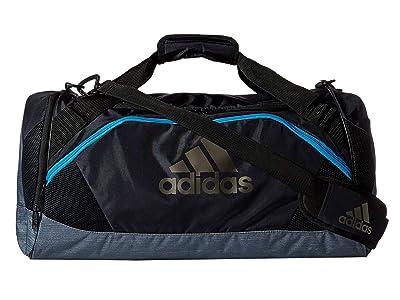 adidas Team Issue II Medium Duffel (Night Grey/Grey Two-Tone/Shock Cyan) Duffel Bags