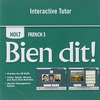 Bien Dit Level 3, Grade 11 Interactive Tutor: Holt Bien Dit!