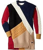 Burberry Kids - Cable Colour Block Dres (Little Kids/Big Kids)