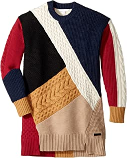 Burberry Kids - Cable Colour Block Dres (Little Kids/Big Kids)