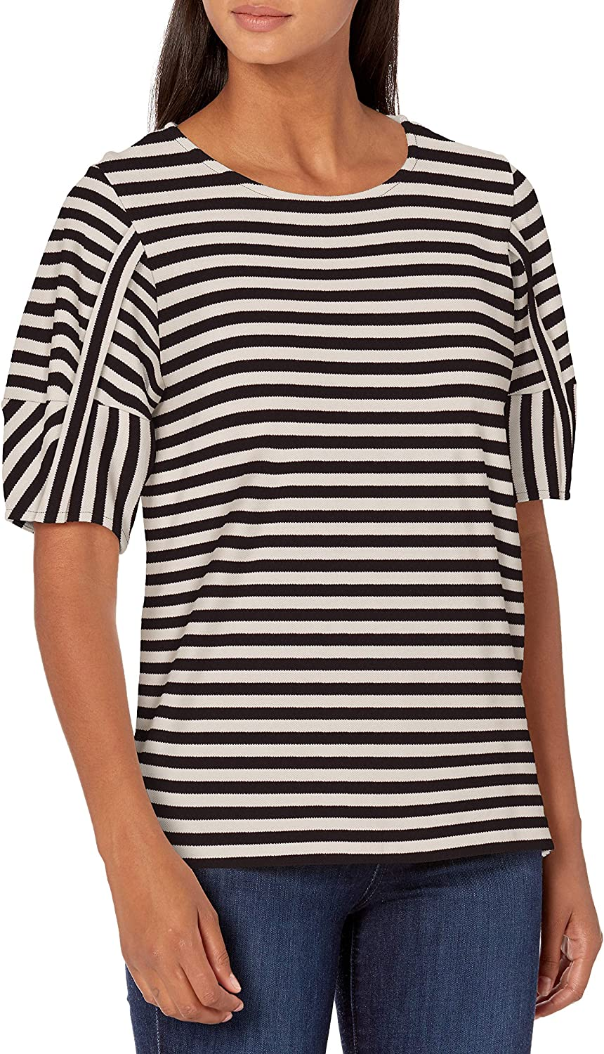 Ella Moss Women's Connie Stylish Max 66% OFF Puffed shopping Sleeve Knit Top