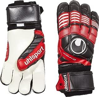 uhlsport Mens ELIMINATOR SUPERSOFT BIONIK FRAME FINGER PROTECTION Goalkeeper Gloves Soccer