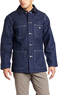 indigo denim chore coat