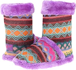 Knit Print Bootie Slippers