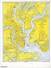 Map - Charleston Harbor, 1968 Nautical NOAA Chart - South Carolina (SC) - Vintage Wall Art - 33in x 44in