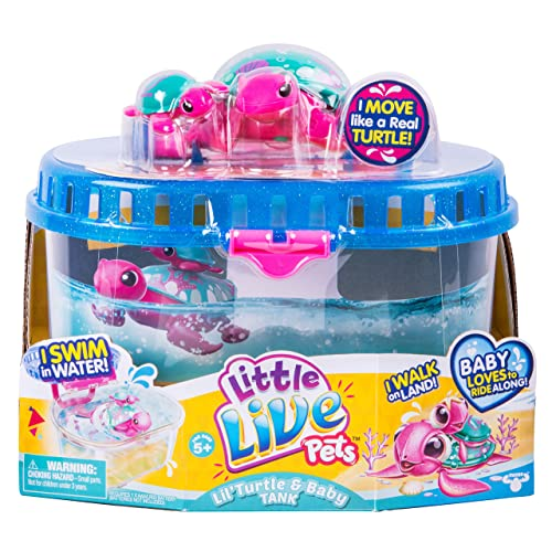 Little Live Pets Season 5 Lil  Turtle Tank - Seashore The Reef Turtle and  Baby e5b86a45d