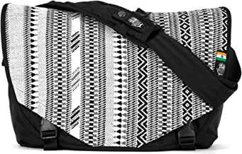 Ethnotek Acaat Messenger Bag from with Hand-Woven Outside Panel Created Using Traditional Techniques