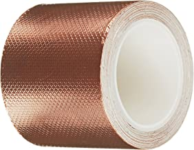 3M 1245 Embossed Copper Foil Tape - 1 in. x 54 ft. Pressure-Sensitive Acrylic Adhesive Roll for Grounding, EMI Shielding