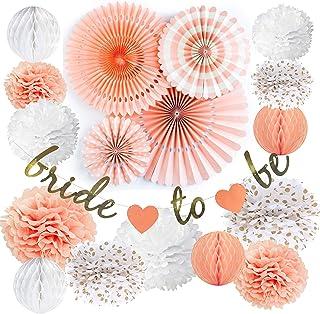 VIDAL CRAFTS Bridal Shower Decorations Set, Bachelorette Party Décor, Bride to Be Banner, Dessert Table Decoration Kit, Wedding Supplies