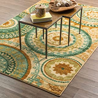 Mohawk Home Strata Forest Suzani Medallion Printed Area Rug, 5'x8', Multicolor