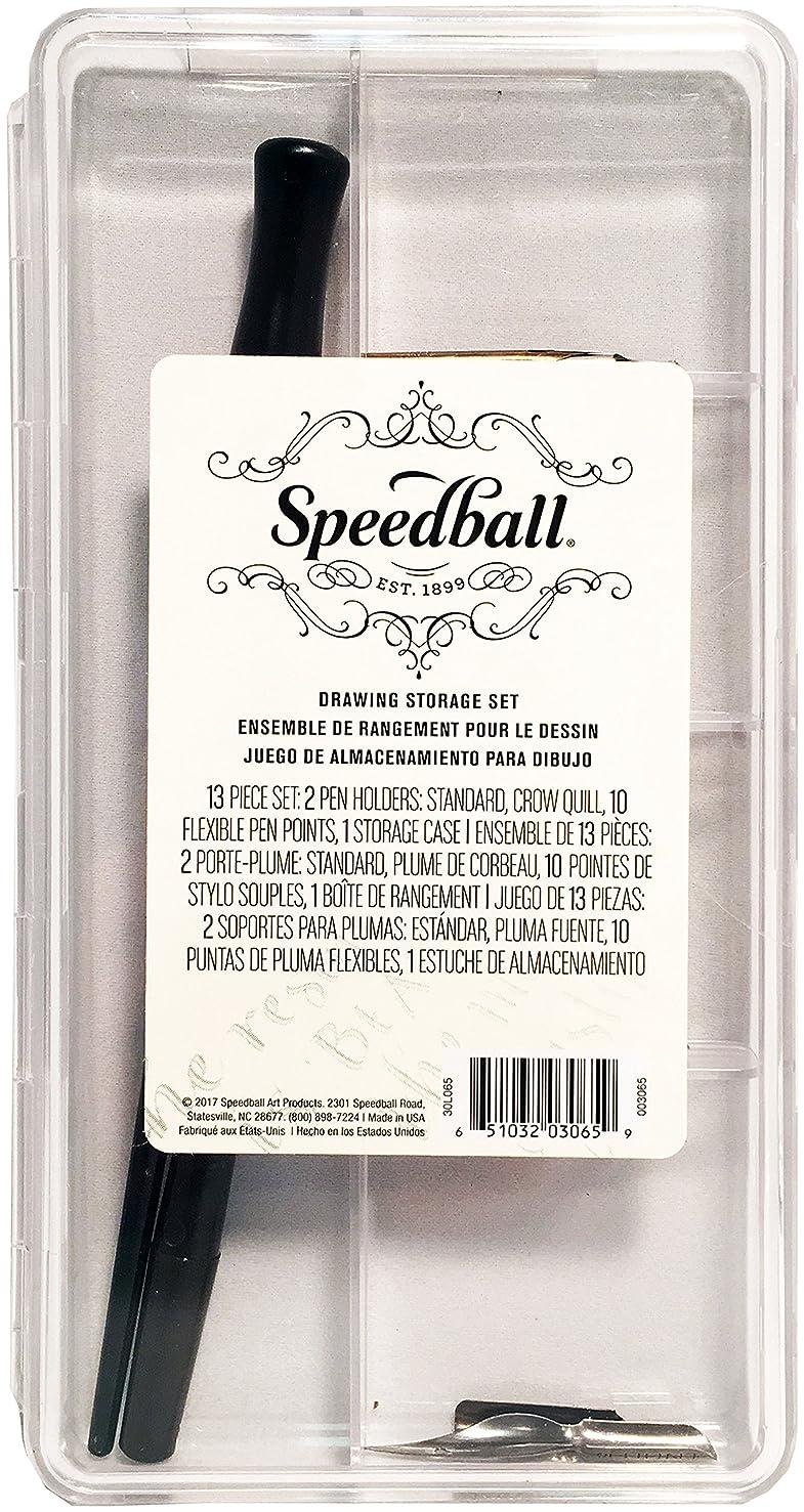 Speedball 003065 Drawing Storage Set - Pen Holder and Pen Nibs Set - 12 Piece Set