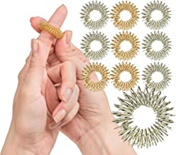 Spiky Sensory Finger Rings (Pack of 10) - Great Spikey Fidget Toy for Kids and Adults - Fun Set for Acupressure - Great Classroom Supplies by Impresa Products