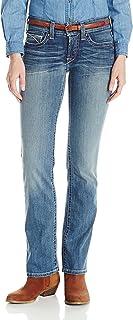 ARIAT Womens 10019536 R.e.a.l. Riding Mid Rise Straight Cut Jean Jeans - Blue