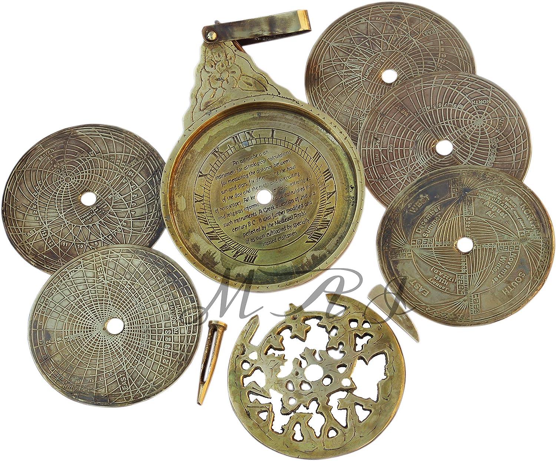 Vintage Antique Brass Astrolabe 8