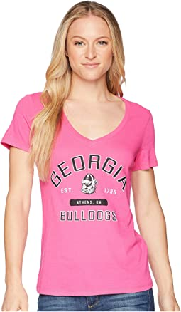 Georgia Bulldogs University V-Neck Tee