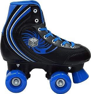 New! Epic Rock Candy Quad Roller Skates w/2 Pr. Laces (Black & Blue)