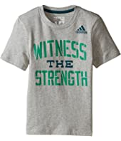 adidas Kids - Witness The Strength Tee (Toddler/Little Kids)