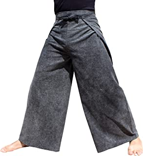 RaanPahMuang Wide Leg Wrap Waist Tied Casual Toraijin Pants In Cottons