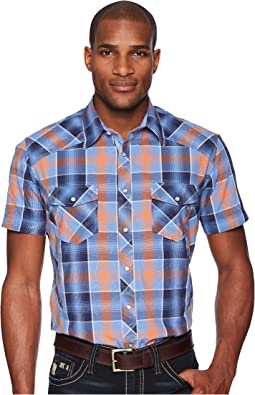 Rock and Roll Cowboy - Plaid Short Sleeve Snap B1S5724