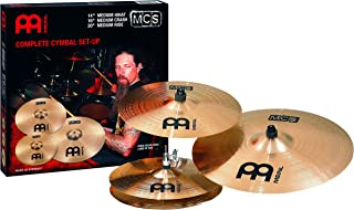 Meinl Cymbals Matched MCS Cymbal Set: 14-Inch Hi-Hat, 16-Inch Crash, 20-Inch Ride (VIDEO)
