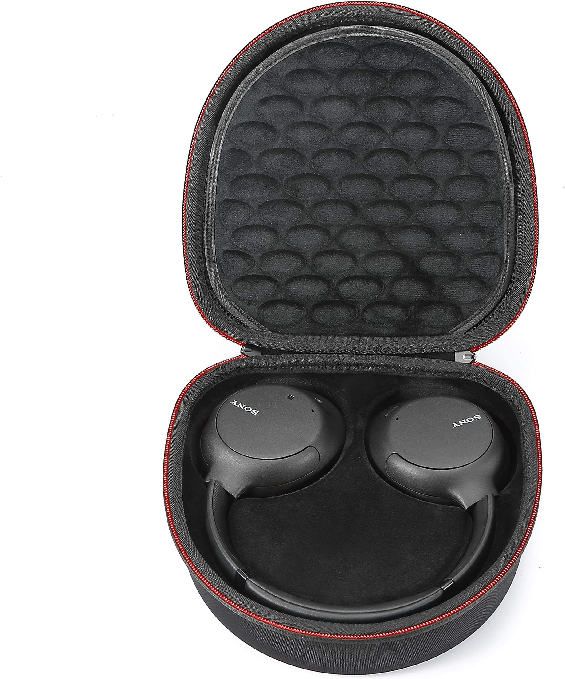 Hard Case for Sony WH-CH700N/Sony WH-CH710N Wireless Noise Cancelling Headphones, Travel Carrying Storage Bag - Black+Black