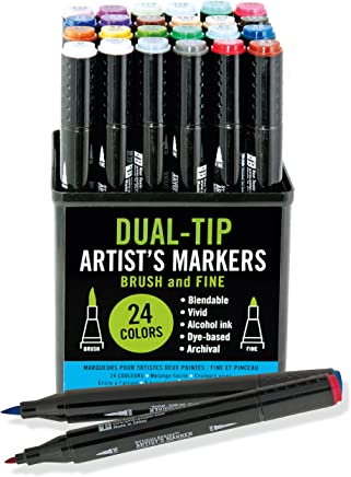 Studio Series Dual-tip Alcohol Markers: Set di 24